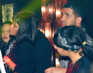 Rihanna and Drake partying in a Paris nightclub